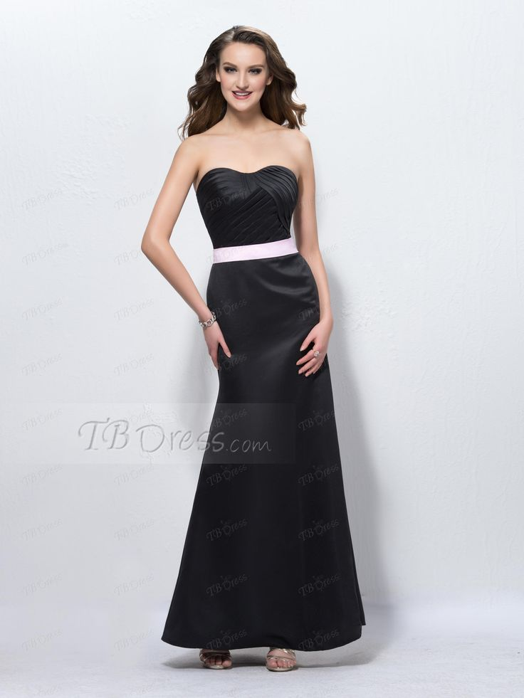 Pretty Trumpet Sweetheat Ankle-Length with Belt Bridesmaid Dress