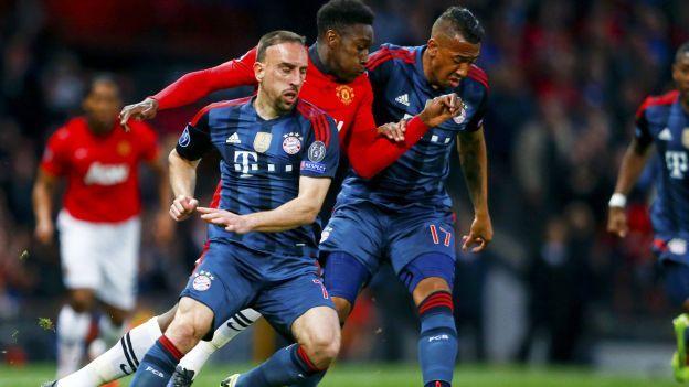 Bayern Munich empató 1-1 con Manchester United por la Champions League . April 08, 2014