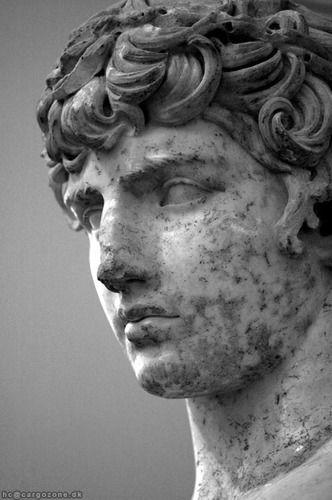 """""""Je n'aimais pas moins ; j'aimais plus. Mais le poids de l'amour, comme celui d'un bras tendrement posé au travers d'une poitrine, devenait peu à peu lourd à porter.""""  [Les Mémoires d'Hadrien - Marguerite Yourcenar] [Credit - Delphi, Museum - Antinous]"""