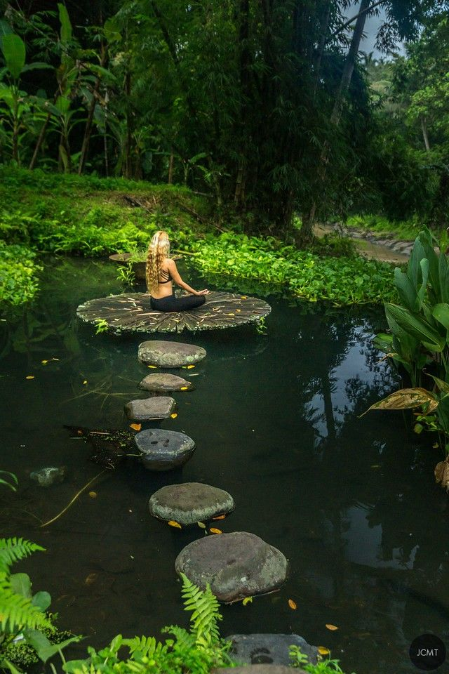 Ubud, Woman in nature, Yoga, Bali, by JCMT agency