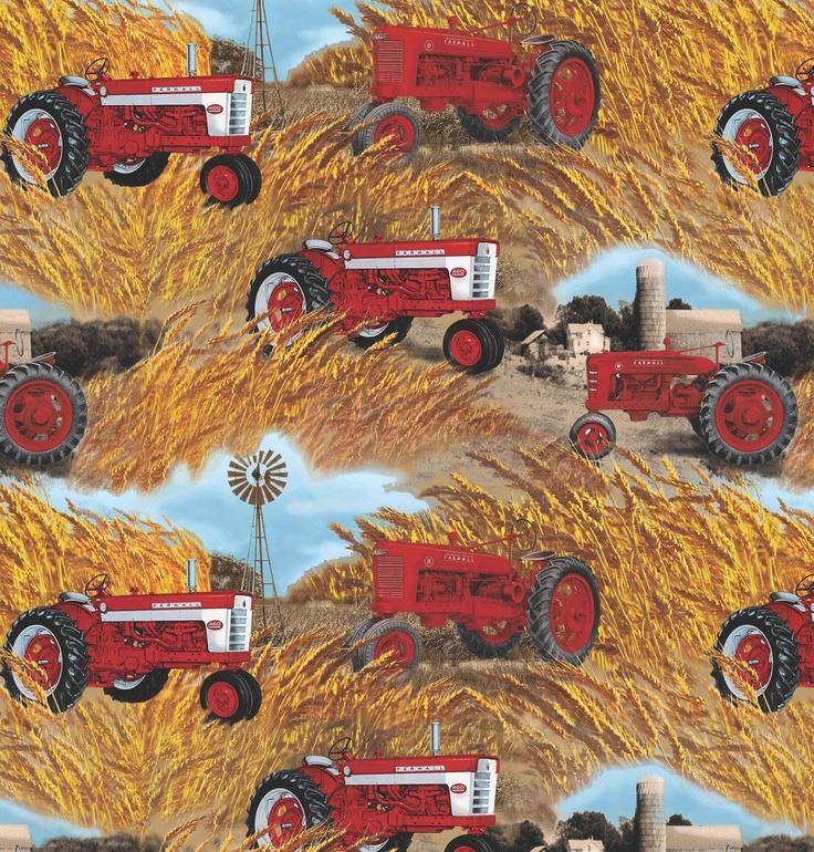 Tractor Flannel Fabric – Jerusalem House