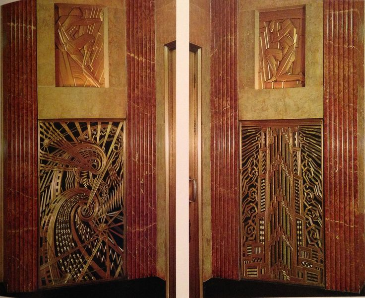 Deco grilles for elevator.Chamberlain Building,NYC...