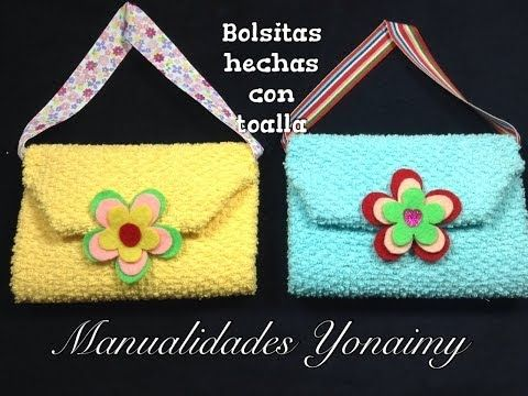 BOLSITA HECHA CON UNA TOALLITA FACIAL .- WASHCLOTH  PURSE. - YouTube