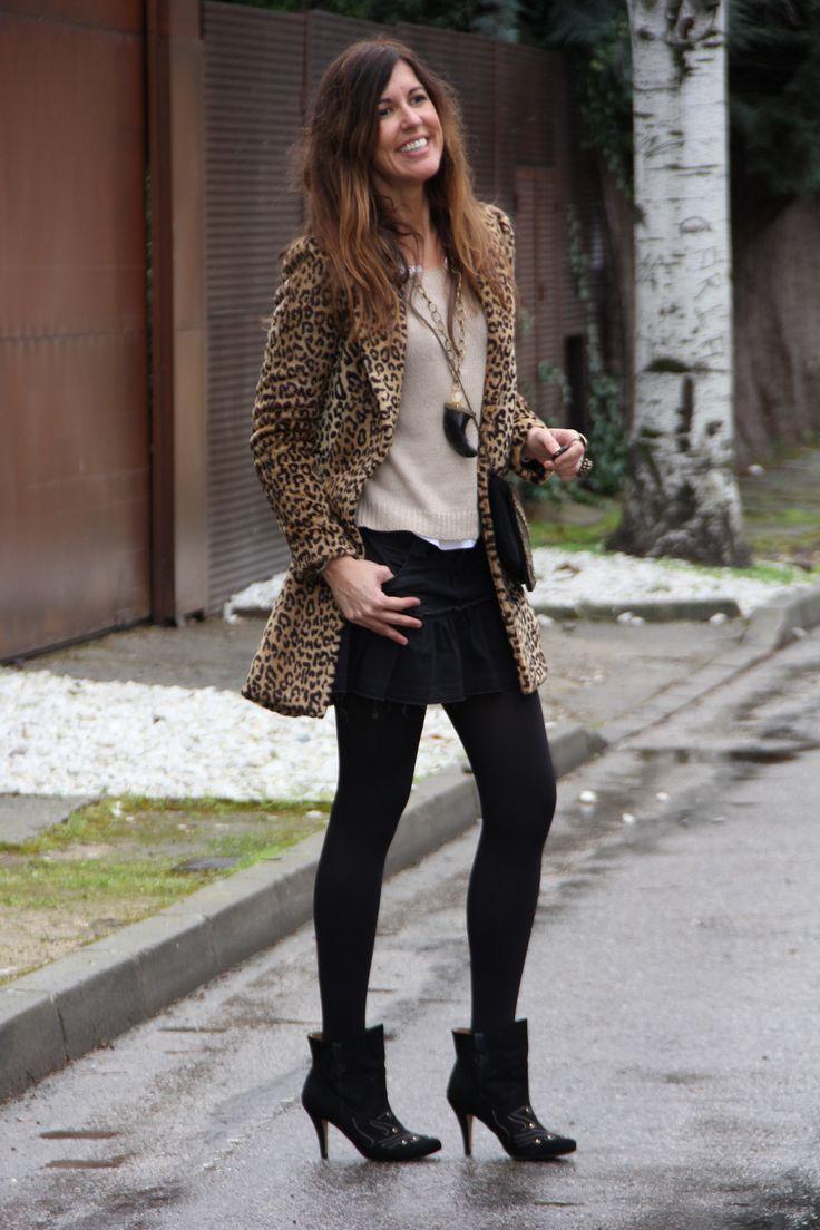 these rainy days: leopard coat and isabel marant style boots   mytenida en stylelovely.com