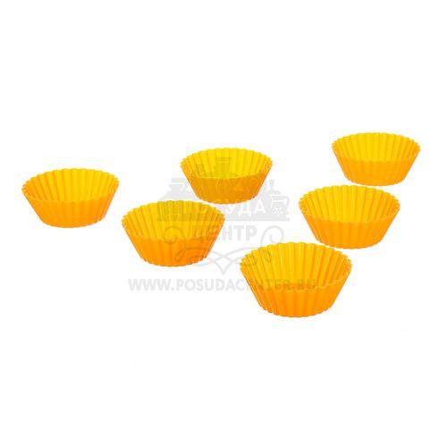 Миниформы для выпечки Кексы Marmiton, оранжевый, силикон