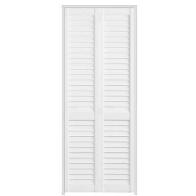 Masonite 24x79 full louvre plantation bifold for Porte home depot