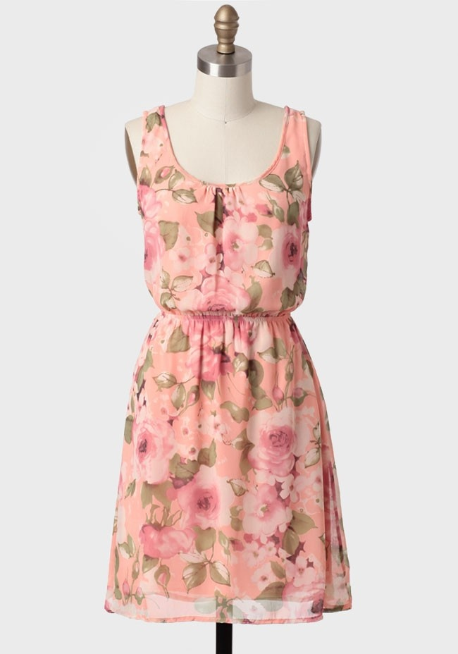 Through The Garden Floral Dress