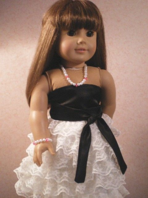 American Girl Doll Clothing  Cream & Black by fashioned4you