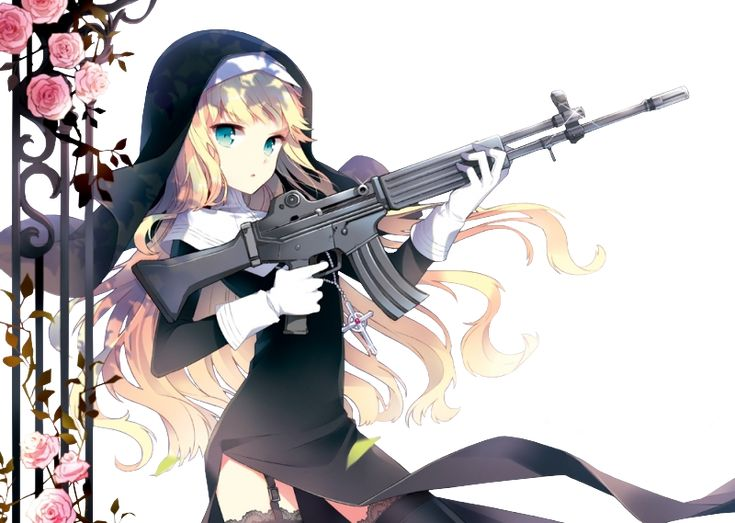 Anime Weapon Sniper Blonde