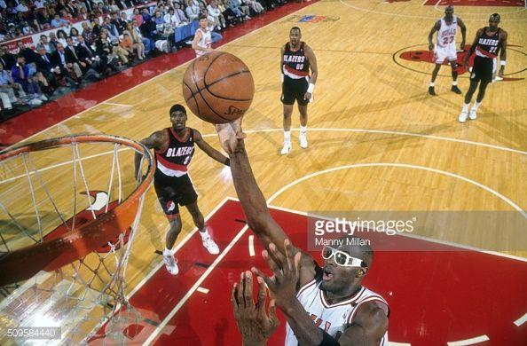Fotografia de notícias : Chicago Bulls Horace Grant in action vs Portland...