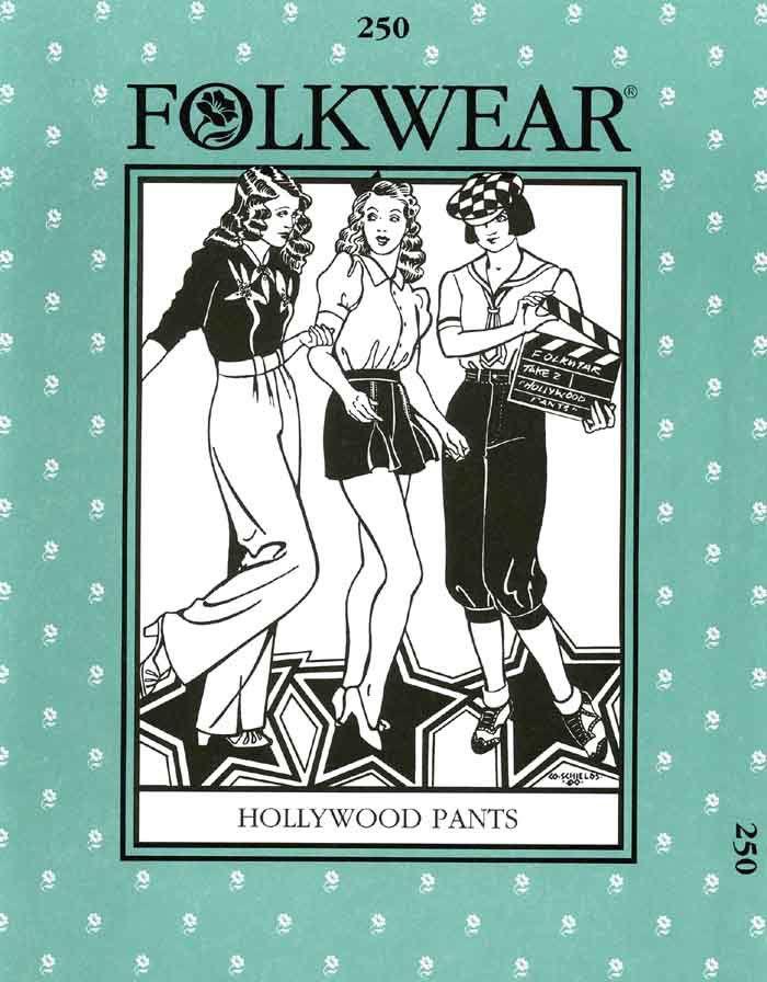 Patterns - Folkwear #250 Hollywood Pants