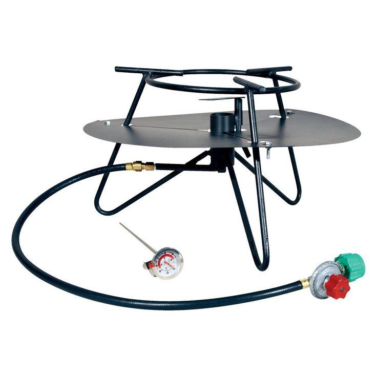 King Kooker Portable Propane Outdoor Jet Cooker with Baffle, Black