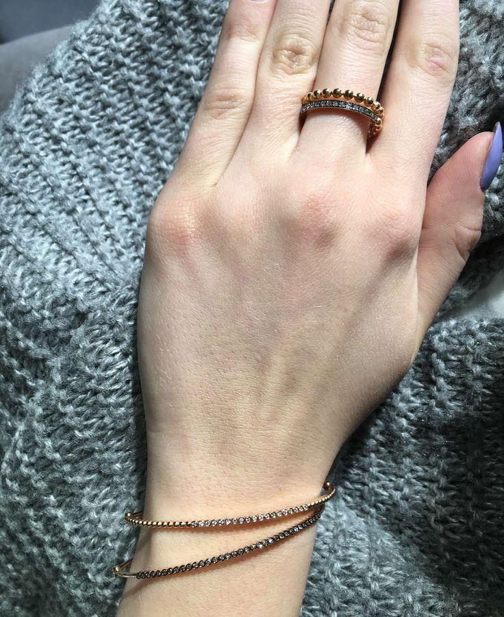Diamond bangles and rings that will definitely magnetise everyone around you! #KontzamichalisJewellery