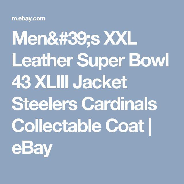 Men's XXL Leather Super Bowl 43 XLIII Jacket Steelers Cardinals Collectable Coat  | eBay