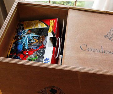 """""""Traditional toy boxes (think plastic and/or primary colors) can be such an eyesore in a family room. Instead, use unlikely containers like wooden wine or vintage soda crates to store kids' toys,"""" says blogger Piera Jolly of Jolly Mom. """"Puzzles, Legos and other small items fit perfectly inside wooden wine crates. It's a great way to keep them hidden in an elegant way."""""""