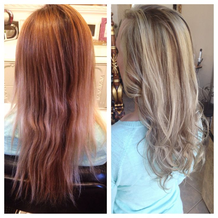 Before After Highlights And Lowlights Styles And Color
