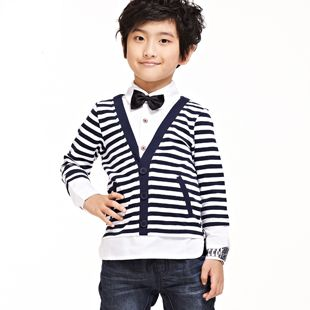 Free Shipping Boys Long Sleeve Striped T Shirts for Kids Fashion Autumn Fake 2pcs Tops K2652 from Reliable Boys Long Sleeve Striped T-Shirts suppliers on FANCY TEAM - Best Supplier From China