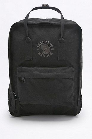 Fjallraven Re-Kanken Black Backpack - Urban Outfitters