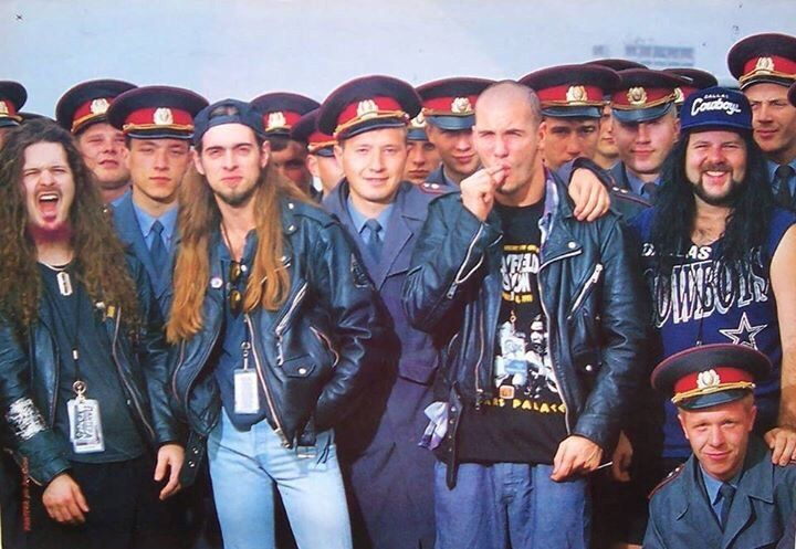 Группа Pantera  Москва, Тушино, 1991