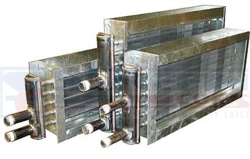 """Steam Distributing coil, also known as """"non-freeze coils,"""" have the tube-within-a-tube design. Our steam Distributing coil is ideal to handle steam that is being modulated and/or if the air entering the coil is below freezing. -http://surefincoils.com/steam-distributing-coil.html"""