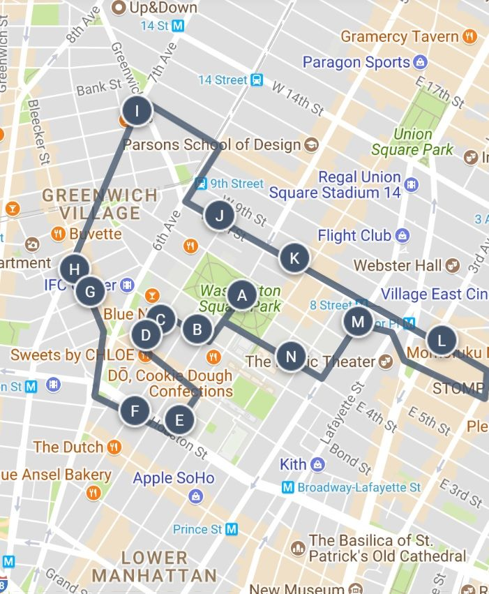 NYU A student\'s life in NYC Sightseeing Guide and Walking Tour Map ...