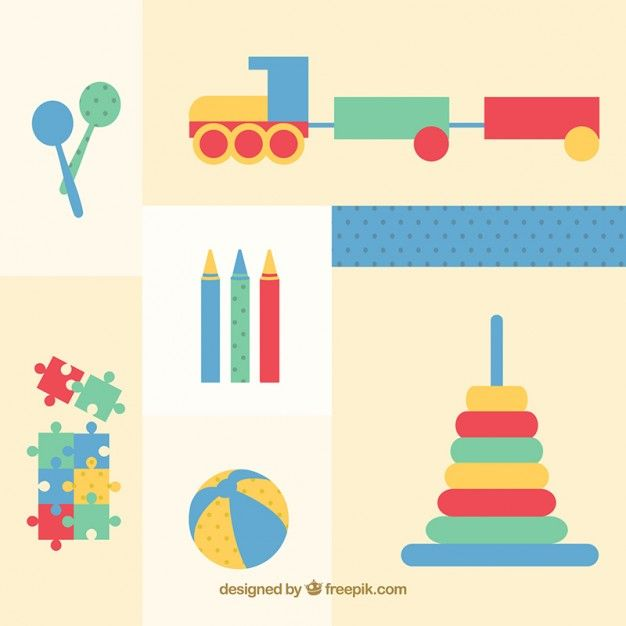 Free vector Retro toys collection #2273