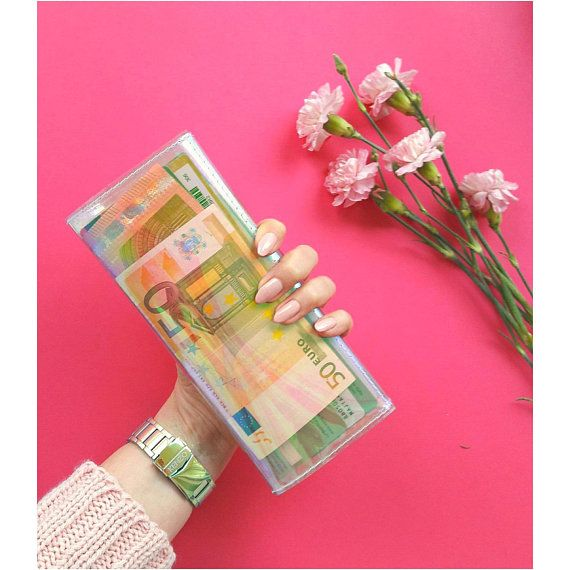 Holographic wallet vegan wallet card coin bills by YPSILONBAGS