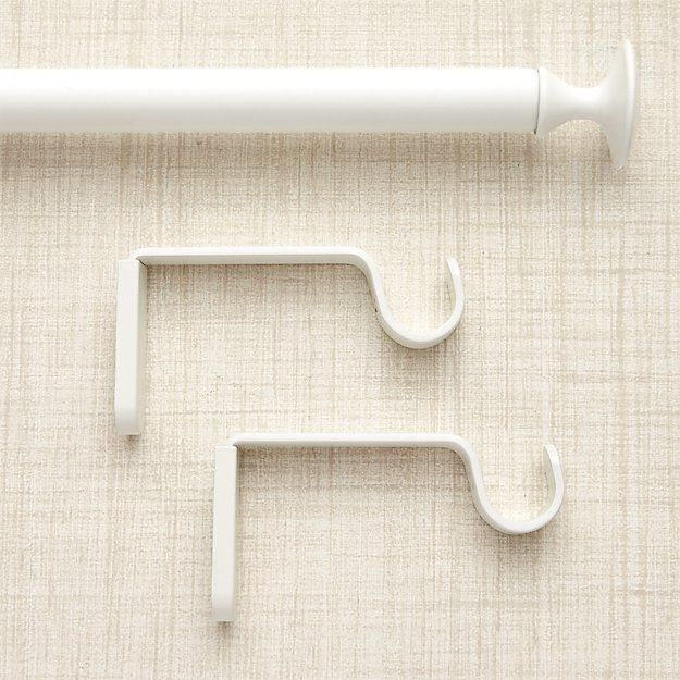Single White Curtain Rod Crate And Barrel In 2020 White