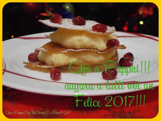 Millefoglie di pane carasau con crema pasticcera alla vaniglia  http://ajoapappai.blogspot.com/2016/12/millefoglie-di-pane-carasau-con-crema-pasticcera-alla-vaniglia.html