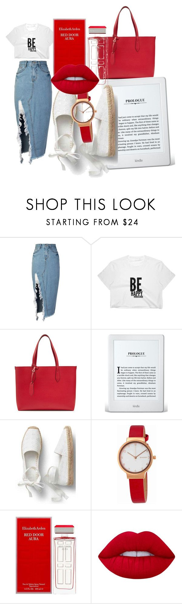 """""""Untitled #19"""" by androsales24 on Polyvore featuring storets, Burberry, Skagen, Elizabeth Arden and Lime Crime"""