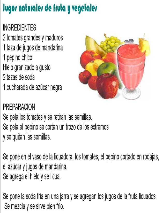 Zumos de verduras y frutas para adelgazar