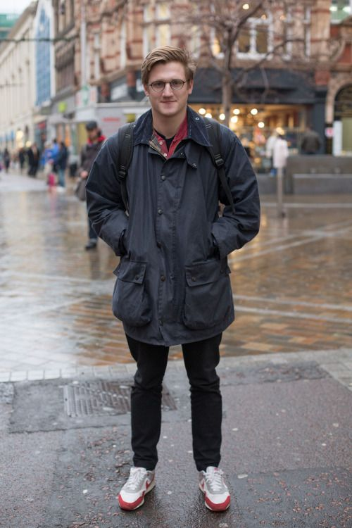 'We spotted Matthew in his Barbour Wax Jacket - ideal for the wet weather!\u00a0'