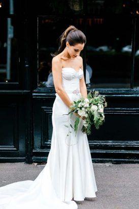 Modern Melbourne wedding  ||  Gown: 'Prea' by Karen Willis Holmes  ||  Follow: @KWHBridal  (Photographer: Clarisse Photography)