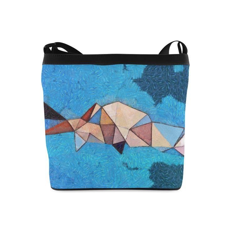 Abstract polygone Bag Shoulder Sling Bag #caelis #slingbag #blue #polygone