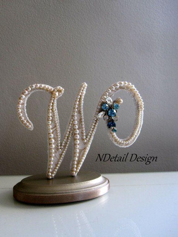 Wedding Cake Topper & Display  Monogram Pearl by NDetailDesign, $105.99