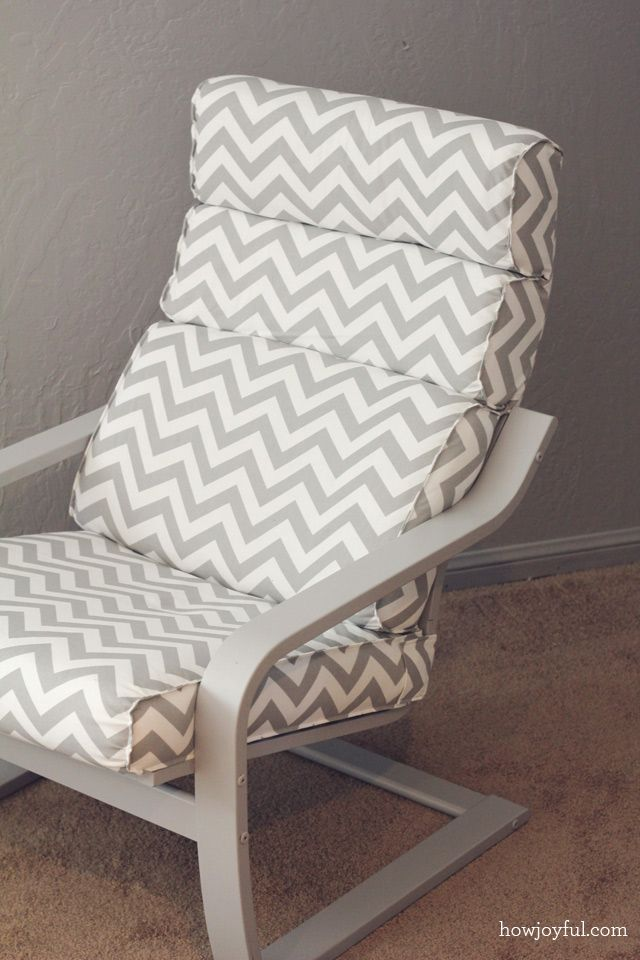 Nursery: Ikea poang chair recover | How Joyful. *DIY Poang chair & ottoman covers! Match to baby space!