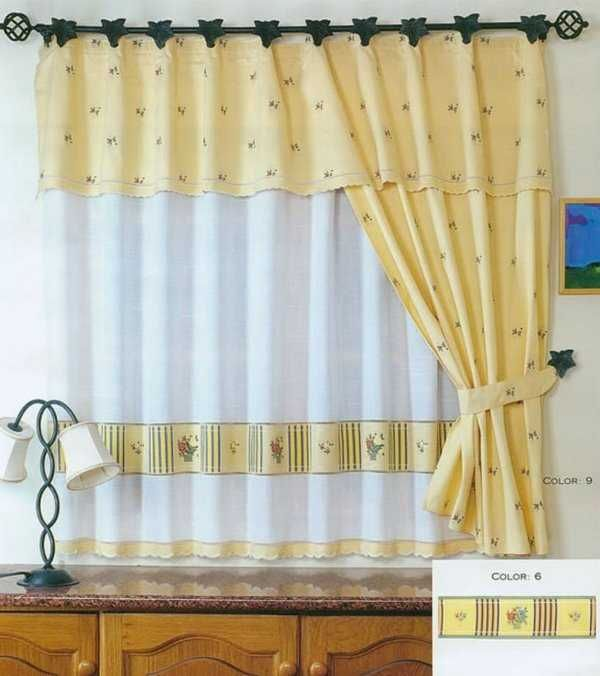 17 best images about cortinas y ropa de cama on pinterest for Estilos de cortinas