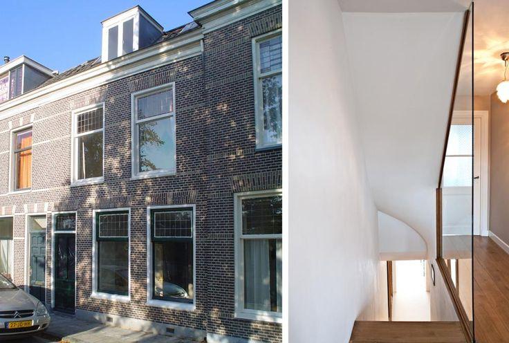 Hoofdopzet voor de renovatie en uitbreiding van deze vooroorlogse woning in Leiden was om de woning een open relatie met de tuin te geven en om de indeling van de bestaande woning aan te passen aan het leefpatroon van de beide opdrachtgevers. Hierbij werd uitgegaan van de toevoeging van een open woonkeuken aan de tuinkant.