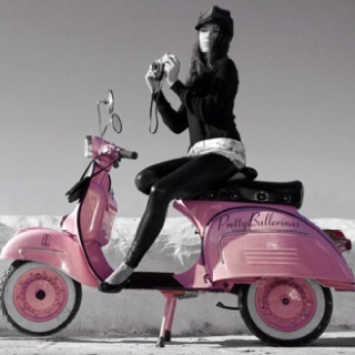 want a pink vespa, then add leopard spots, and wear a pink helmet and scarf!!! awesome