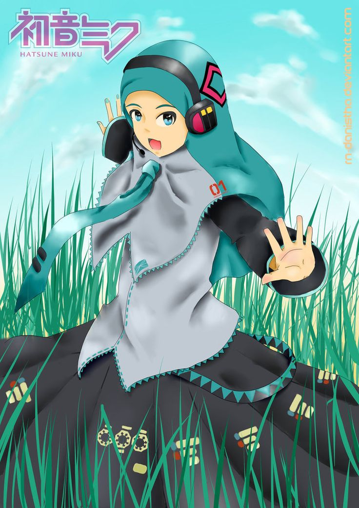 Hatsune Miku Hijab Version by RNdanistha (Dengan gambar
