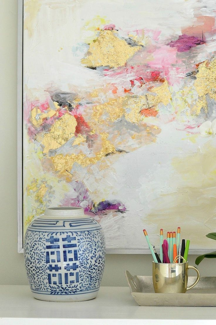 How to make DIY gold leaf art! Love this!