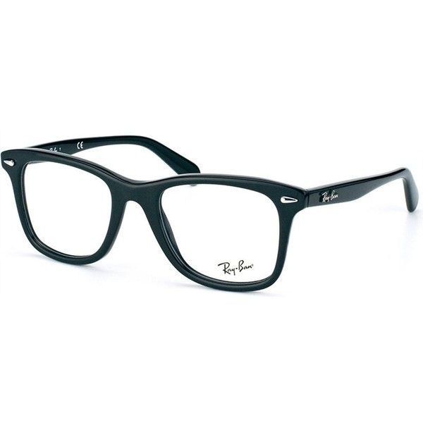 Ray-Ban RX 5317 2000 Shiny Black Eyeglasses ($143) ❤ liked on Polyvore featuring men's fashion, men's accessories, men's eyewear, men's eyeglasses, mens eyeglasses, mens eyewear and ray ban mens eyeglasses
