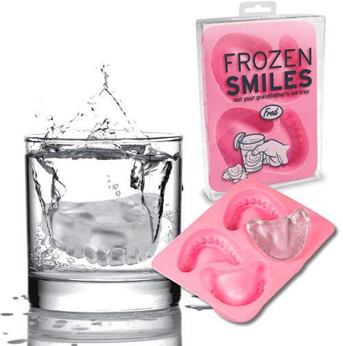 Frozen Smiles = Denture Ice Cubes
