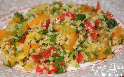 Табуле из булгура с помидорами и мятой  | Кулинарные рецепты от «Едим дома!»