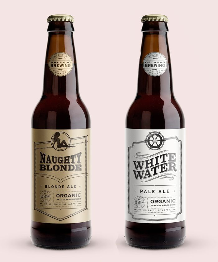 Chicago designer, Ross Burwell, developed concept brand and label designs for Orlando Brewing Co.'s.