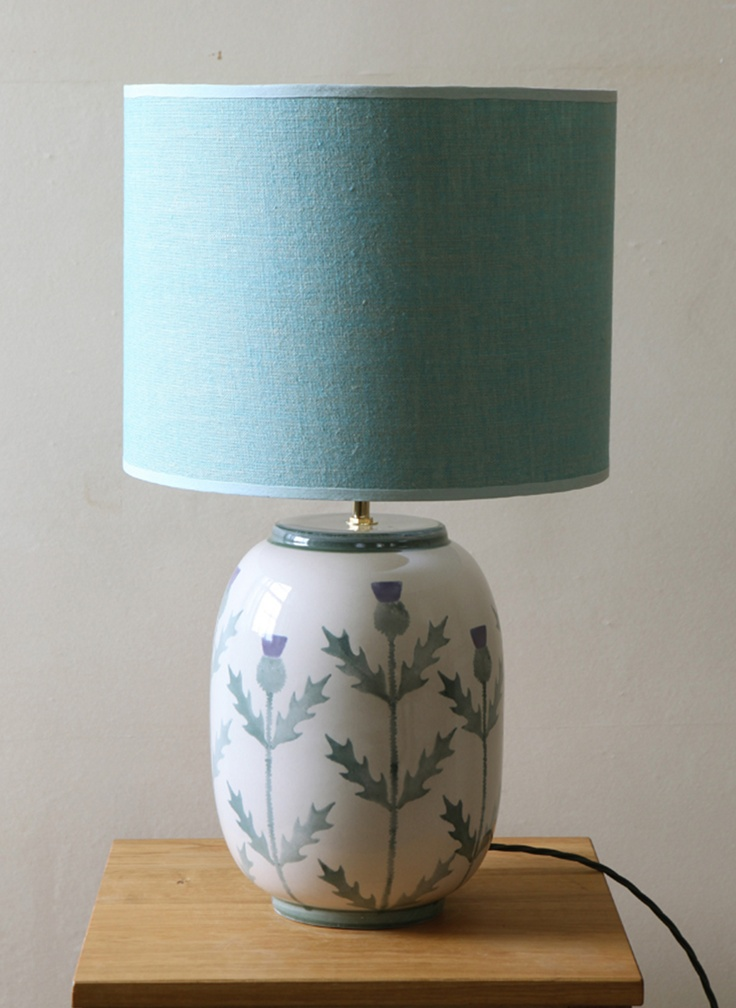 Cream thistle large lamp