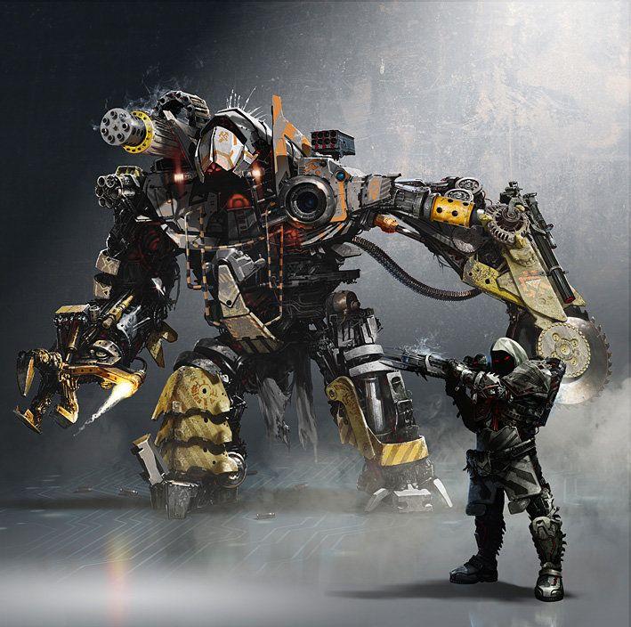 Japanese Sci Fi Art Iso50 Blog: Concept Mech With Heavy Alien, Jakub Kuzma