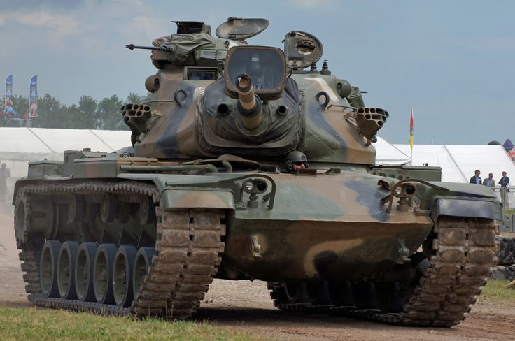 "M60A1 | by jw021979 - The M60 Patton is a main battle tank (MBT)[5] introduced in December 1960. With the United States Army's deactivation of their last (M103) heavy tank battalion in 1963, the M60 became the Army's primary tank during the Cold War. Although developed from the M48 Patton, the M60 series was never officially classified as a Patton tank, but as a ""product-improved descendant"" of the Patton series. In March 1959, the tank was officially standardized as the 105 mm Gun Full"