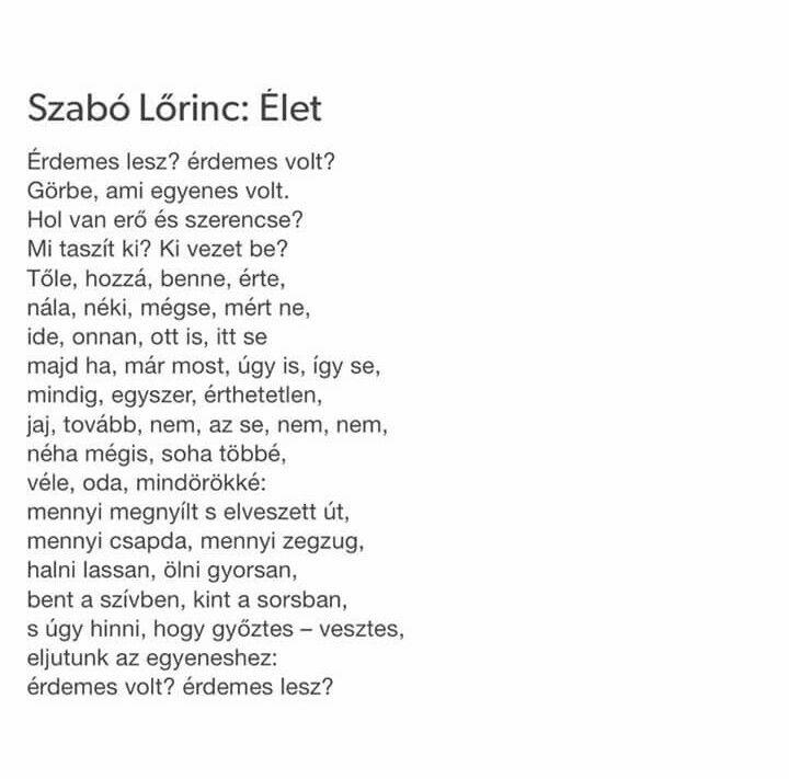 Szabó Lőrinc: Élet