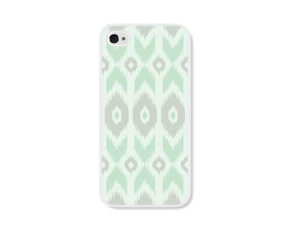 Mint Green Geometric Ikat Apple iPhone 4 Case